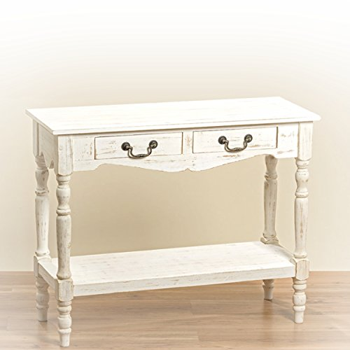 The-French-Country-Style-2-Drawer-Console-Table-Shabby-Chic-Distressed-Finish-Creamy-Wood-Brass-Hardware-Over-3-Ft-Wide-By-Whole-House-Worlds