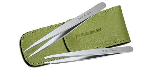 Tweezerman  Miniature Slant and Point Tweezers (Case Color Varies)