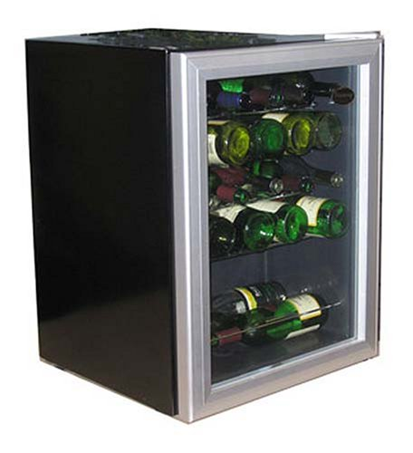 Best Price Vinotemp VT-24S 24-Bottle Wine Chiller, Black and Silver