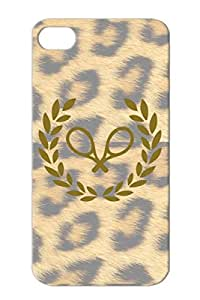 Tennis Sports Brown TPU For Iphone 4s Protective Case