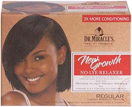 Dr. Miracle's New Growth No-Lye Relaxer Kit, Regular, 1 Kit (Bundle of 4)