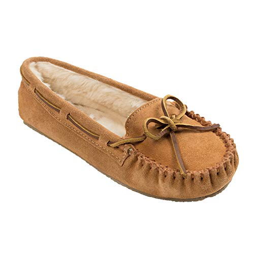 Minnetonka Women's Cally Slipper,Cinnamon,7 M US (Womens Brown Moccasins)