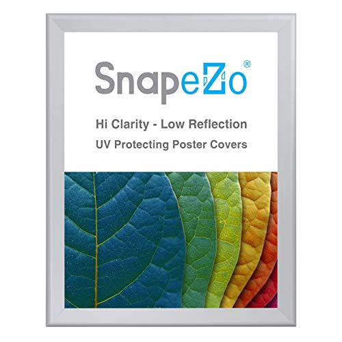 (SnapeZo Poster Frame 36x48 Inches, Silver 1.7 Inch Aluminum Profile, Front-Loading Snap Frame, Wall Mounting, Wide Series)