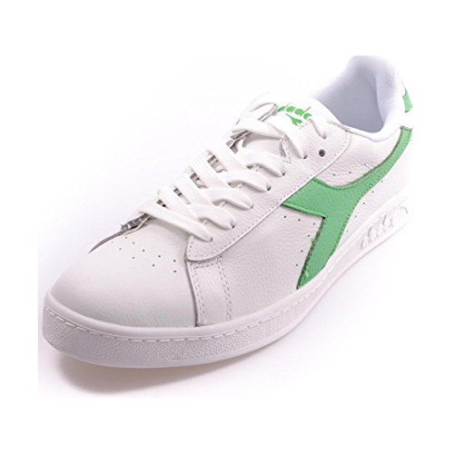 Diadora Game L Low Waxed, Sandalias con Plataforma Unisex, 36 EU White/Irish Green