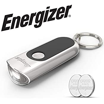 Energizer Keychain Light with Touch Technology , Bright 20 Lumens, Keychain LED Flashlight, Batteries Included