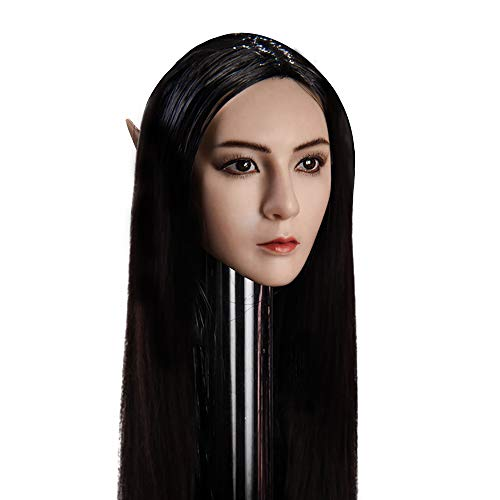 OBEST 1/6 Scale YMT09 Elf Head Headsculpt with Replaceable Ears for HT, VERYCOOL, TTL, Hottoy, Play, PHICEN Action Figure Body (YMT09B) ()