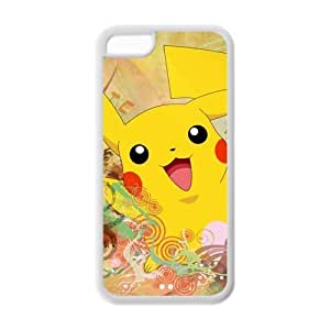 iPhone 5c Case, iPhone 5c cover Case, Pokemon Pikachu TPU Fashion Case for iPhone 5c Cover Screen Protector