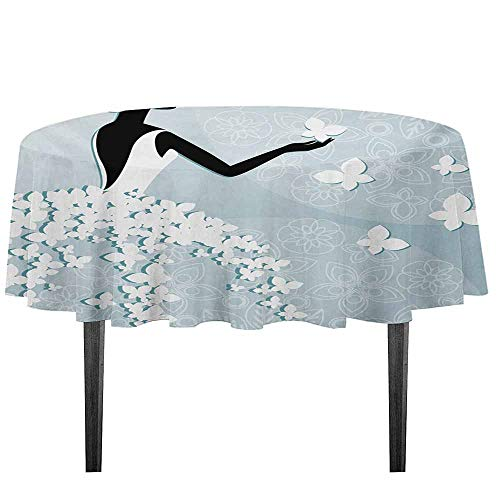 Bridal Shower Washable Tablecloth Bride in Butterfly Dress
