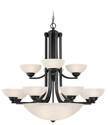 Dolan Designs 206-46 12+3Lt Warm Bronze Fireside 15 Light 2Tier Bowl Chandelier
