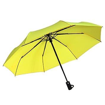 HAN-NMC Completamente automático Plegable Paraguas Paraguas de Negocios, Amarillo