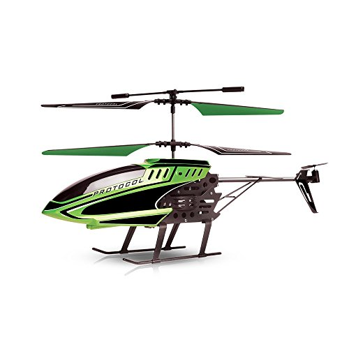 Protocol Spîr | 3.5 Channel RC Helicopter with Electronic Gyro, Stabilizes Flight Automatically for Easy Maneuvering, Durable Crash Resistant Components, Multi-Colored LED Light for Night Navigation