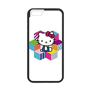 iPhone 6 Plus 5.5 Inch Cell Phone Case Black Hello Kitty Color Blocks Xvnzn