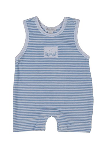 Kissy Kissy Baby-Boys Infant Curious Crabs Terrycloth Stripe Sleeveless Short Playsuit-Blue-0-3 Months