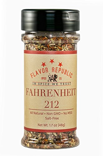 Price comparison product image Fahrenheit 212 (8 oz bottle) - salt free, all natural, vegan, non GMO, gluten free, paleo diet, HOT seasoning blend that adds heat to any dish and is perfect for weight loss and a low sodium diet!