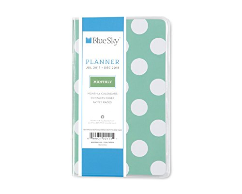 "Blue Sky 2017-2018 Academic Year Monthly Planner, 3.6"" x 6.1"", Penelope"