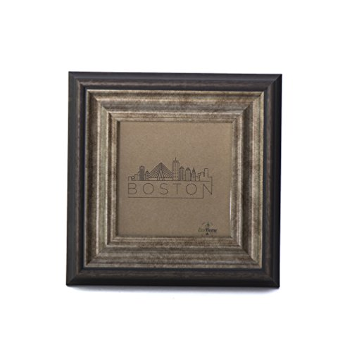 4x4 Picture Frame Brown Antique - Square Mount/Desktop Display, Instagram Prints Frames by EcoHome