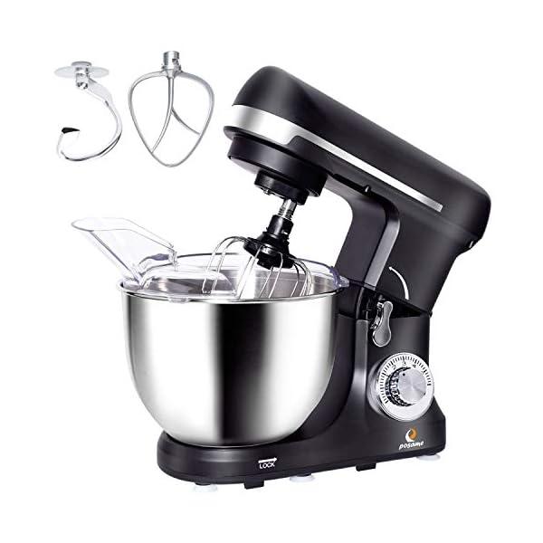 Stand Mixer,Posame Dough Mixer Cake/Bread Kneading Machine,Professional Kitchen Electric Mixer Tilt-Head with 5 Quarts… 1