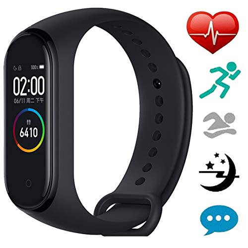 Sodoop Fitness Tracker for Xiaomi Mi Band 4, Heart Rate Monitor Activity AMOLED Color Screen Wristband BT5.0 Global English Pedometer Fashion Touch Screen Smart Watch [June 2019 Newest - Pedometer English