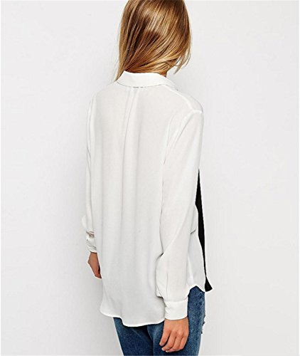 Femmes Chemisier,Reaso Casual Manches longues vrac Shirt Tops