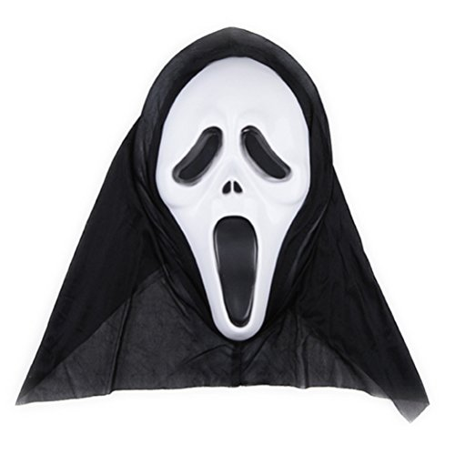 Scary Halloween Masks Images (Tinksky Halloween Ghost Mask Scream Costume Party Mask Creepy Scary Ghosts Masks for halloween horror nights 1 PCS (Screaming Image))