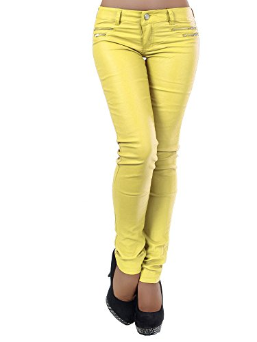 Donna Diva Basic jeans Jeans Gelb Skinny q7nxHCawn