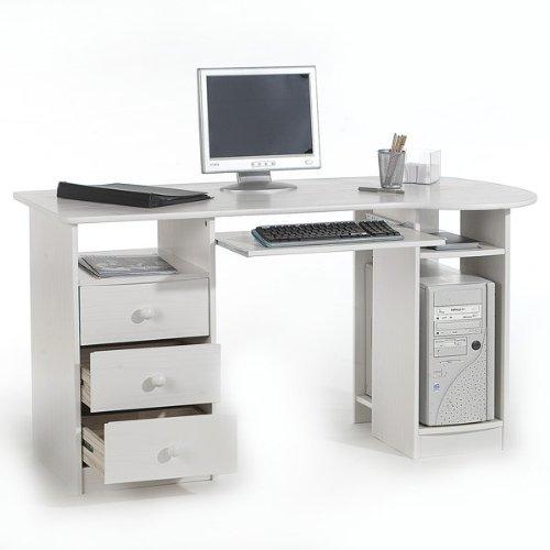IDIMEX Schreibtisch BOB Computertisch PC-Schreibtisch Kiefer massiv Natur lackiert mit Schubladen
