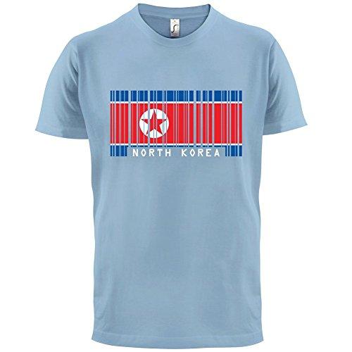 North Korea / Nordkorea Barcode Flagge - Herren T-Shirt - Himmelblau - M