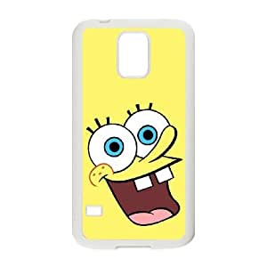 Popular And Durable Designed TPU Case With sponge Bob_003 For samsung galaxy s5 Cell Phone White Cover