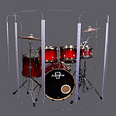 Acrylic Drum Shield Drum Screen DS1 L Four Panels 2/' x 4/' with Living Hinges
