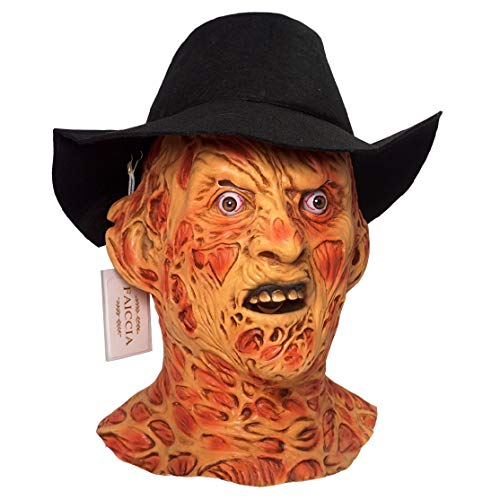 Deluxe Freddy Krueger Mask & Hat Nightmare on Elm Street Full Overhead Latex Mask ()