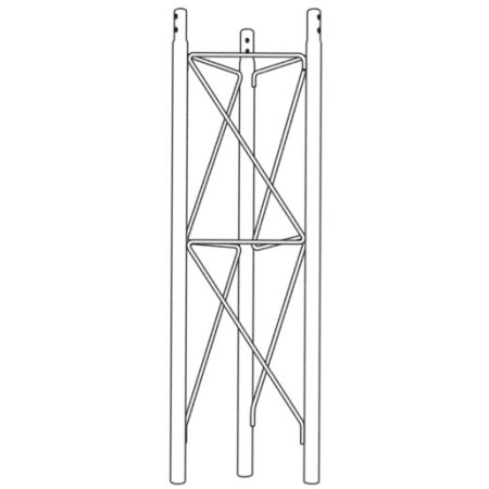 (ROHN SB25G5 5' Short Base for Embedment in Concrete - 25G Towers )
