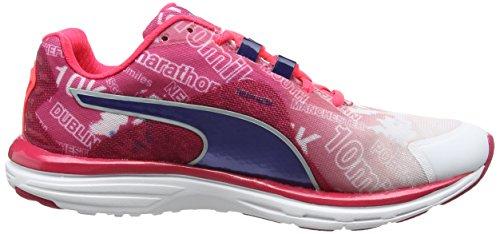 Puma Faas500v4grswnsf5 - Zapatillas de running Mujer Blanco - White (White/Pink/Blue)