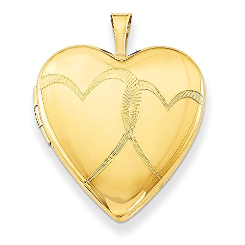 - 1/20 Gold Filled 20mm Entwined Hearts Heart Locket 25x19mm 18 Inches