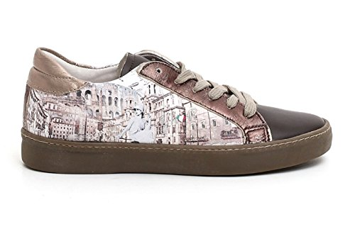 Y-NOT? SNEAKER DONNA (YW102), stampa roma, colore marrone-bronzo