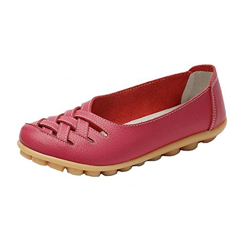 Leather Casual Flats Pigro Scarpe skid Anday Mothers Comfy Hollow Doug Non Rose Women Work IU5qgqxHw