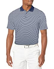 Cutter Men's Moisture Wicking UPF 50 Drytec Forge Tonal Stripe Polo Shirt