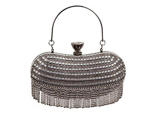 Boda La Las Leahward De 745 Bolsa De Embrague De Boda Negro Diamante Bolsos Tarde De De Mujeres La w81H8I