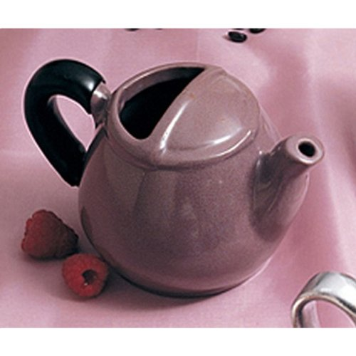 Black 3-1//2 Height 16 oz Capacity Bon Chef 4040BLK Aluminum Coverless Teapot with Insulated Handle Pack of 6