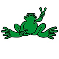 Peace Frogs Giant Frog Sticker, Green