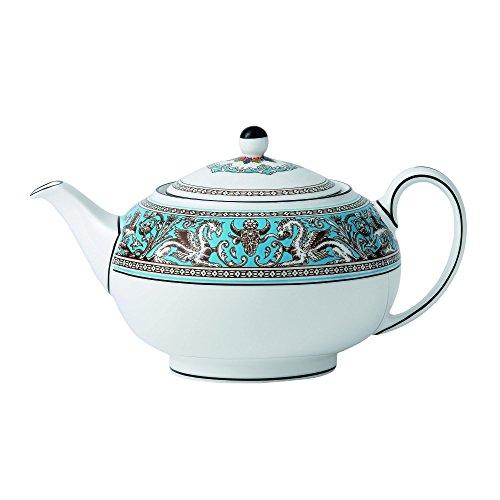 - Wedgwood Florentine Teapot, Blue