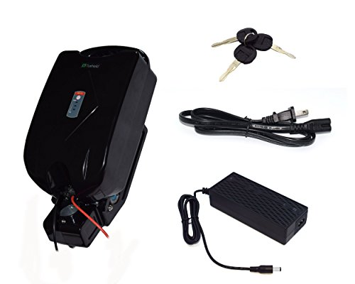 tric Bicycle Rechargeable Battery E-Bike Lithium ion Battery Frog Style for Ebike Motor with Battery Charger ()