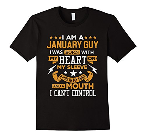 Mens I'm A January Guy T-Shirt Birthday Gift Shirt XL Black