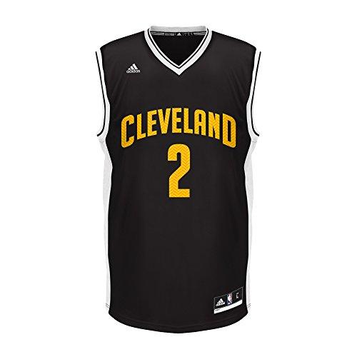 NBA Cleveland Cavaliers Kyrie Irving # 2Chevron Fashion réplica Jersey, grande), color negro