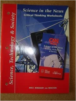 Science in the News Critical Thinking Worksheets Science