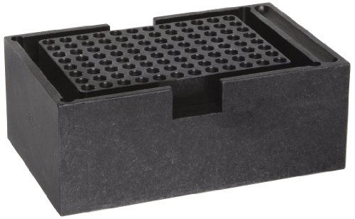 Thomas 949374 Anodized Aluminum Double Heat Block, 96 Wells, 6.4 mm Well Diameter x 15.5 mm Well Depth, For 0.2mL PCR Plate Tubes