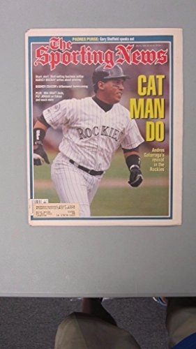 (THE SPORTING NEWS NEWSPAPER JULY 5, 1993 ANDRES GALARRAGA COLORADO ROCKIES COVER )