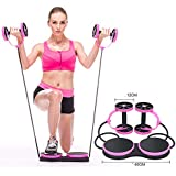 MindBody Fitness Ab Roller Comfort Knee Pad Core Ab Trainer Equipment Resistance Band (Pink)