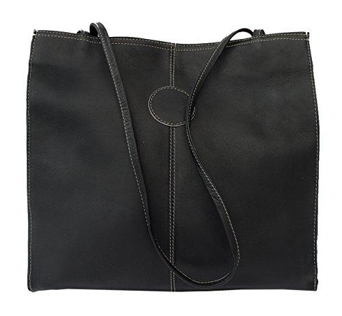 Fashion Avenue Medium Market Tote Bag Color: Black