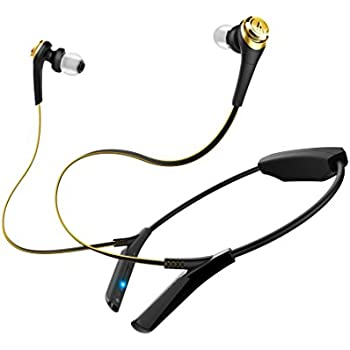 ed57214652f Audio-Technica ATH-CKS550BTBGD Bluetooth Solid Bass Wireless Earbuds with  Mic & Control,