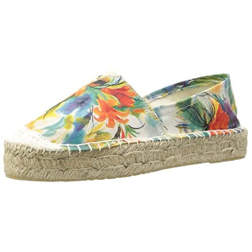 Dirty Laundry Chinese Laundry Women's Elson Espadrille, Blue Flower Fabric, 5.5 M US